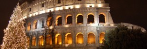 Colosseum at Christmas in Rome